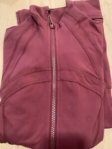 NWT authentic lululemon define jacket in Red Merlot size 10. New Color Rtl $118