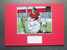 LIVERPOOL JIMMY CASE GENUINE HAND SIGNED 1977 A3 MOUNTED PHOTO DISPLAY-PROOF COA