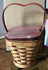 Longaberger 2007 Hearts Delight Basket, Liner, Lid, Protector RETIRED NEW IN BOX