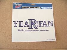 "Colorado Rockies 2012 Year of the Fan logo 4.5""x 5-3/4"" static sticker"