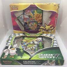 More details for pokemon tcg galarian sirfetch'd & alakazam v collection box promos only