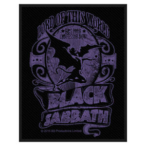 """BLACK SABBATH - """"LORD OF THIS WORLD"""" - WOVEN SEW ON PATCH"""