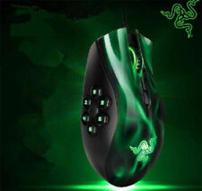 Green MMO Razer Naga Gaming Mouse 5600dpi 3.5G Laser Sensor 6 Buttons New TM3