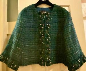 $6,700 Chanel 2014 Green Tweed Glitter Jacket 40 42 44 8 10 12 Coat Blazer Top L