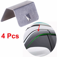 4pcs Stainless Steel In Channel Wind Deflector Fitting Clips Car Rain Eyebrows