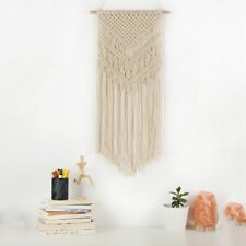 New Macrame Woven Wall Hanging - Boho Chic Bohemian Home Geometric Art Decor