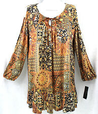 STYLE & CO. Top Slinky Knit Cold Shoulder Size XS Seventies Mood NWT $54.50