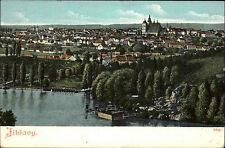 Jihlavy Tschechien Česká ~1910 Panorama Gesamtansicht Kirche Fluß Anleger Steg