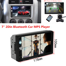 7inch Car Radio Bluetooth Stereo Audio 2Din MP5 Player Bluetooth w/Rear Camera
