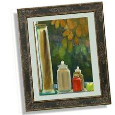 Unframed Unsigned Modern Still Life Watercolour Painting Spaghetti Storage Jar