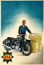 Motorbike Bike Ad BSA Motorcycle  Poster Print