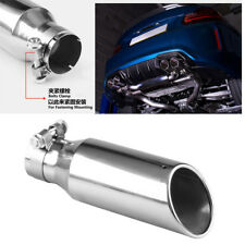 "10.3"" Stainless Steel Car SUV Truck Exhaust Muffler Tip Pipe Tail Throat Silver"