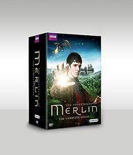 Merlin: The Complete Series season 1-5 1 2 3 4 5 (DVD, 2014, 24-Disc Box Set)New