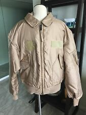 Military Pilot Desert Tan CWU-45/P Cold Weather Flyer's Nomex Flight Jacket XL