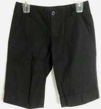 Odd's N Even's Black Casual Cuffed Shorts Womens Size 3