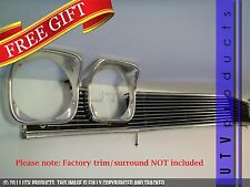 GTG 1968 Chevy Chevelle and El Camino 3PC Polished Overlay Billet Grille Kit