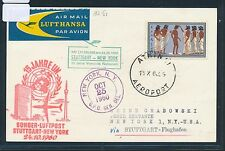 60661) LH UNO SF Stuttgart - New York 24.10.60, So-Karte ab Griechenland