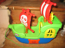 LITTLE TIKES SOUNDS CANNON MUSIC PULLALONG PIRATE SHIP SAIL OPENING PARTS STEER