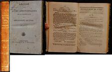K/ RECUEIL DES ACTES ADMINISTRATIFS DÉPARTEMENT DE L'OISE 1826 Restauration