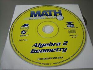 Math Express! Algebra 2 & Geometry (PC & MAC, 1999) - Disc Only!!!