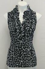 Milano Women Shirt, Size Medium, black, white, polyester, spandex