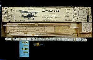 Flyline Models's The 1927 Stearman C-3B R/C & F/F Model Airplane Kit NEW IN BOX!