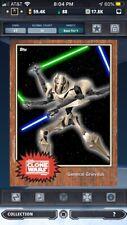 topps star wars card trader Tier 9 Lot Of 4 Digital Cards 50 CC