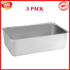3 Pack Full Size 6 Deep Stainless Steel Steam Table Spillage Pan 24 Gauge