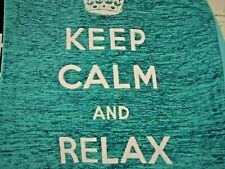 Chenille Cushion Cover - Keep Calm & Relax range - 70% Polyester, 30% Cotton,