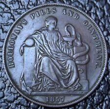 1857 HOLLOWAY'S PILLS & OINTMENT PENNY TOKEN - Professor Holloway London