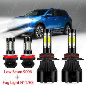 For Toyota RAV4 2013 2014-2015 4pcs LED Headligh Low+Fog Light Bulbs Combo Kit