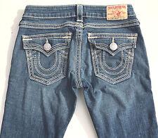 EUC RRP $499 Womens Stunning True Religion Brand 'BILLY BIG QT' Indigo Jeans 27