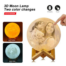 Personalized Moon Lamp 3D Printed Custom Photo Moon Light USB Charging 2 color