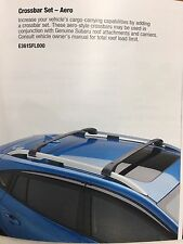 2017 Subaru Impreza Aero Roof Rack CrossBar Cross Bar Set KIT E361SFL000 GENUINE