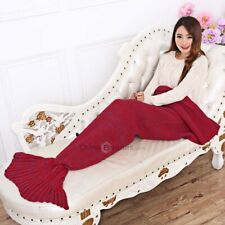 Adults Knitted Mermaid Tail Blanket Soft Sleeping Bag
