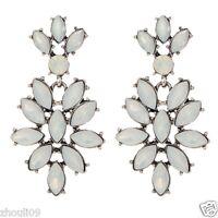 New Woman Elegant pink crystal Rhinestone long Ear Studs hoop earrings 834