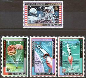 Grenada 1970 QEII Philympia London 1970 overprint set of 4 mint stamps LMM