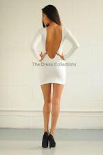 Vestidos de mujer Mini de poliéster de color principal blanco