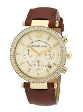 Armbanduhren aus echtem Leder und Edelstahl mit 12-Stunden-Zifferblatt