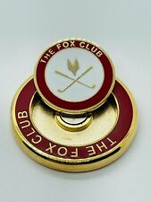 The Fox Club Florida Red Gold Golf Magnetic Ball Marker Coin Medallion Mint Rare