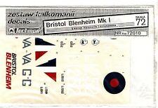 TECHMOD DECALS 72010 - 1/72 BRISTOL BLENHEIM Mk I - NUOVO