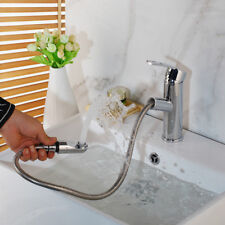 Bathroom/Kitchen Chrome 2 Function BrassTap Sink Pull Out Faucet Mixer Tap