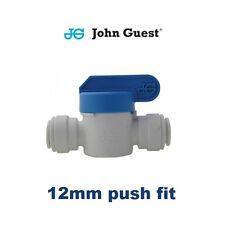 12mm Push Fit Shut Off Valve, John Guest Inline Stop Tap, Filter, Caravan, Water