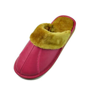 Leather Men Women House Slippers Winter Warm Indoor Bedroom Flat Shoes Soft Fur