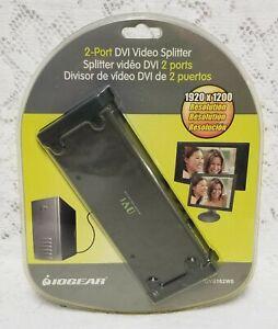 IOGEAR 2-Port DVI Video Splitter with Audio - GVS162W6 - Factory Sealed