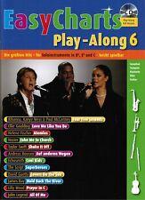 Bläser in Bb, Es und C Noten : EASY CHARTS 6 - mit CD playalong - leMittel