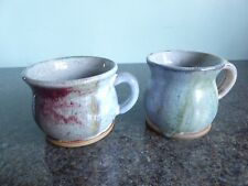 Studio Pottery - Mugs - Colourful Glaze - Signed