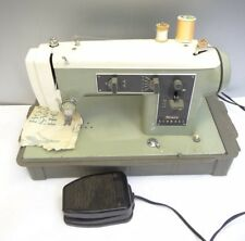 Vintage Sears Kenmore model 158.330 Sewing Machine Parts Green Electric Broken
