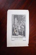 ✒ ca.1770 gravure VOLTAIRE Les Loix de Minos