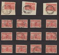 South Australia postmark selection on 2d cable issue 1936